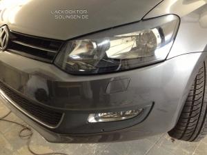 Spot Repair Lackierung an der Frontstoßstange
