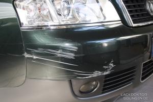 Streifschaden am Audi