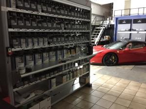 Lackbank zum Herstellen von Automobilfarben aller Hersteller